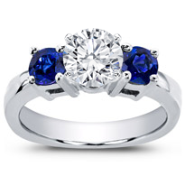 Sapphire Accented Engagement Setting | R2617