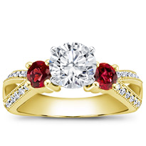 Ruby Accented Pave Engagement Setting | R2771R