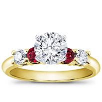 Diamond And Ruby Engagement Setting | R2775R