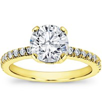 French Cut Pave Setting | R2825