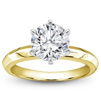 Six-Prong Knife Edge Solitaire For Round Diamond | R2883