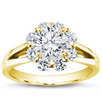 Flower Halo Diamond Engagement Setting (0.70 Cttw) | R2893