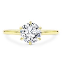 6 Prong Custom Fit Basket Solitaire | R3056